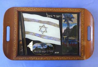 Bandeja Rio De Janeiro Com Bandeira De Israel - Marchetaria