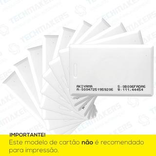 Cartão Proximidade Clamshell Rfid Com Furo 125khz - 10 Unid