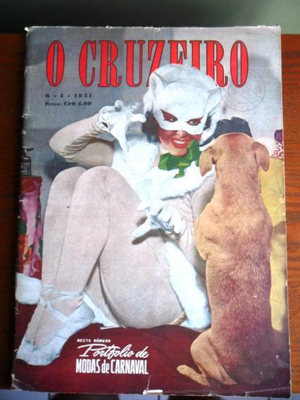 Revista O Cruzeiro (nº 12) Ano 1951 - Modas De Carnaval