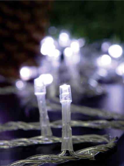 Cordão Luminoso Pisca 96 Leds 127v Estático Fio Cristal