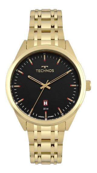 Relógio Dourado Masculino Technos Classic 2115msb/4p.