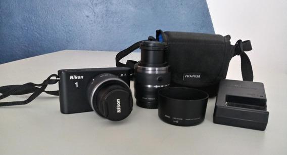 Câmera Nikon 1 J1 Acompanha Lentes 10-30mm E 30-110mm