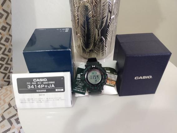 Casio Protrek Prw-s3500-1 Fibra De Carbono Vidro Saphira