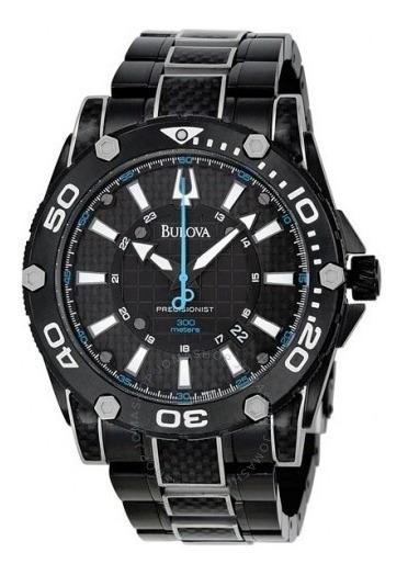 Reloj Bulova Precisionist Caballero Acero Negro 98b153