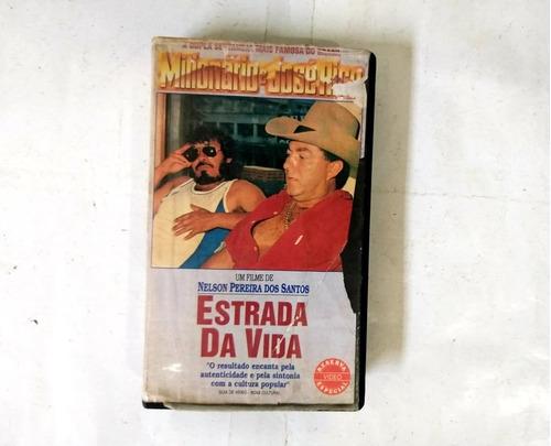 Vhs Estrada Da Vida Milionário E José Rico - Original