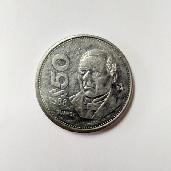 Moneda De $50 Pesos Mexicanos Juarez 1988 - 1992