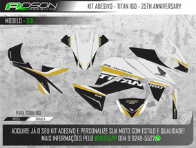 Kit Gráfico Titan 160 25th Anniversary Edição Ilimitada