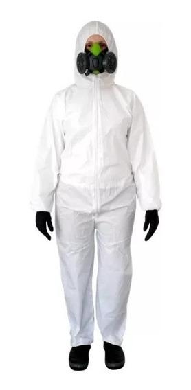 Macacão De Segurança Covertech 100 Volk Branco