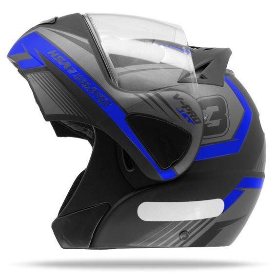 Capacete Moto Robocop Escamoteável Pro Tork V-pro Jet 3