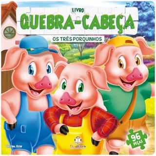 Livro Quebra-cabeça Grande Os Três Porquinhos
