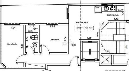 Cobertura À Venda, 86 M² Por R$ 366.000,00 - Vila Valparaíso - Santo André/sp - Co5064
