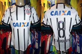 Corinthians 2014 Camisa Titular G Número 8 Renato Augusto.