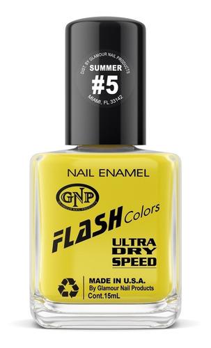 Esmalte Neon Flash Colors De Gnp 15ml Amarillo
