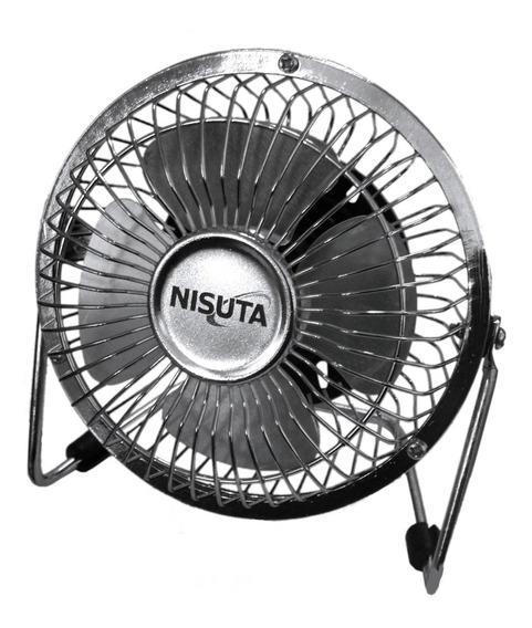 Ventilador Usb Nisuta Metalico Para Escritorio Apto 220v !
