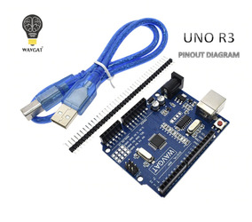 Arduino Uno Wavgat R3 Smd Atmega 328p 16mhz + Cabo Usb