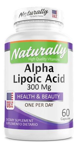 Alpha Lipoic Acid: 300 Mg (ala) X 60 Cap - L a $665