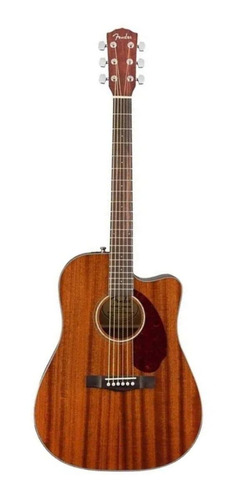 Guitarra electroacústica Fender Classic Design CD-140SCE All-Mahogany caoba  natural derecha