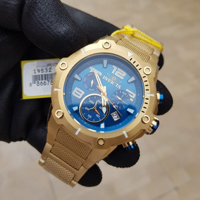 Relógio Invicta Speed Way 19532 Dourado Ouro 18 K Azul