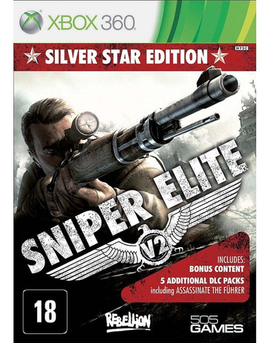 Sniper Elite V2 Silver Star Edition - Xbox 360 - Novo