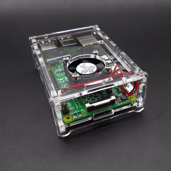 Case Acrilico Para Raspberry Pi3+ Cooler+dissipadores!