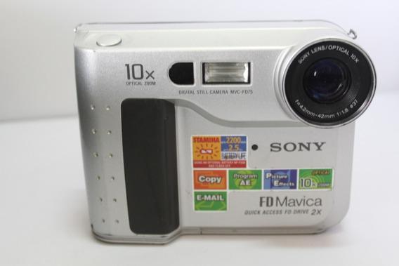 Câmera Fotografica Sony Mavica Mvc-fd75 Retro Para Coleção