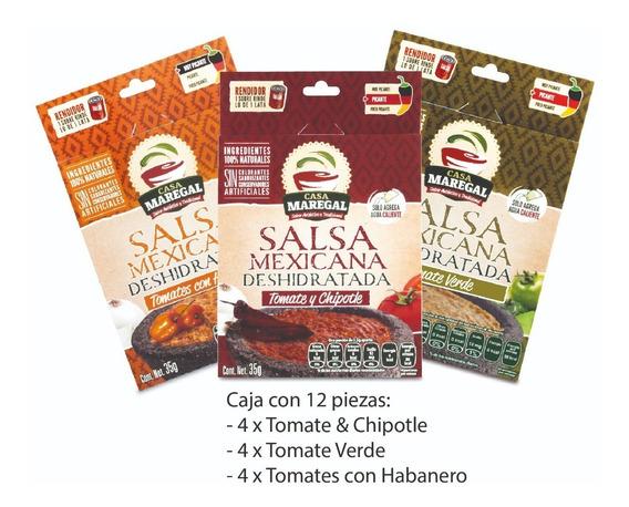 Salsa Mexicana Deshidratada: Salsa Verde, Chipotle, Habanero