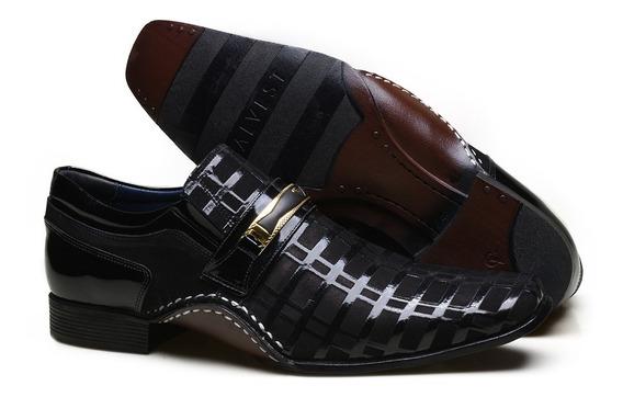 Sapato Social Masculino Calvest Com Elásticos Em Couro