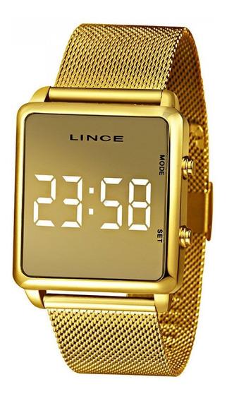 Relógio Feminino Lince Dourado Mdg4619l Bxkx