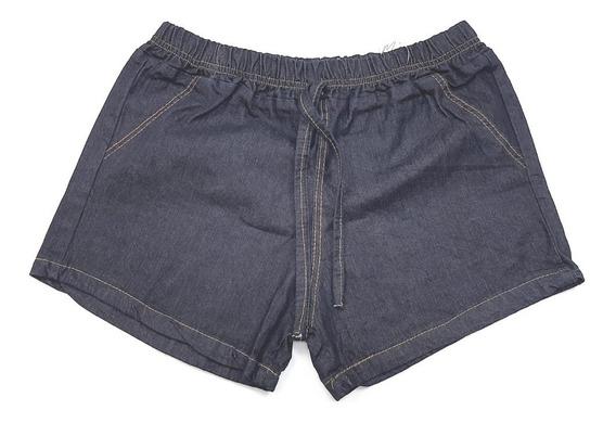 Kit 4 Shorts Jeans Feminino Desfiado Com Elástico