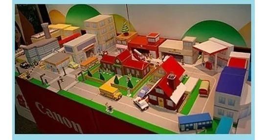Maquete Cidade Completa De Papel Escolar Diorama