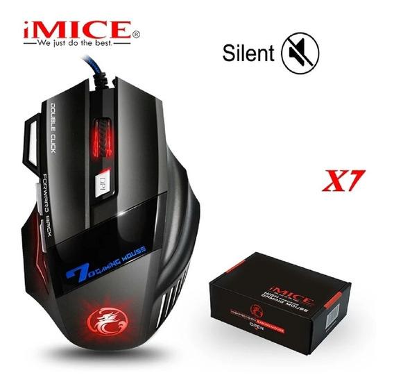 Mouse Gamer Com Led Alta Precisão Pc Gamer Notebook 5500 Dpi