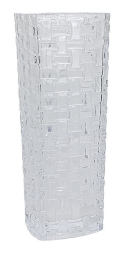 Vaso Em Vidro Incolor   15 Larg X 29 Alt X 15 Prof