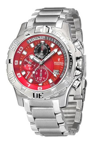 Relógio Festina - F16177/7 -alarm-chrono Vermelho