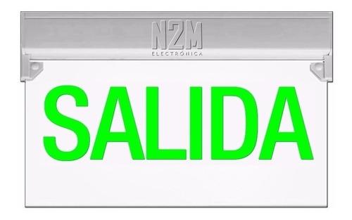 Cartel Led Salida 35x20 Bateria Recargable 220v Cuotas