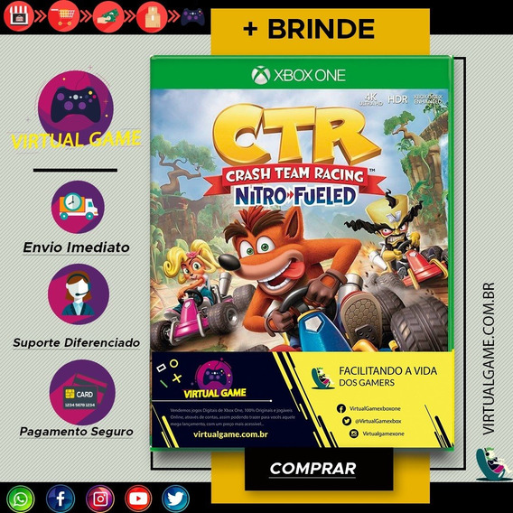 Crash Team Racing Nitro-fueled - Jogo Xbox One + Brinde