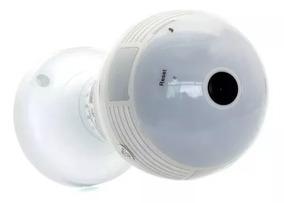 Kit 2 Câmeras Lampada Ip Hd 360° Espia Wifi V380 3 Geração