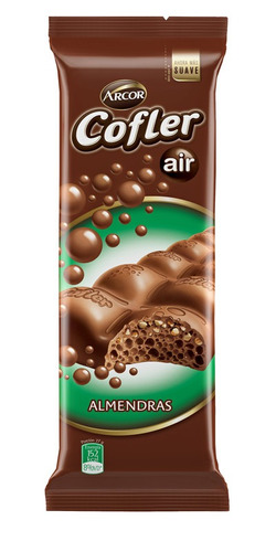 Imagen 1 de 1 de Chocolate Con Almendras Cofler Aire X100g