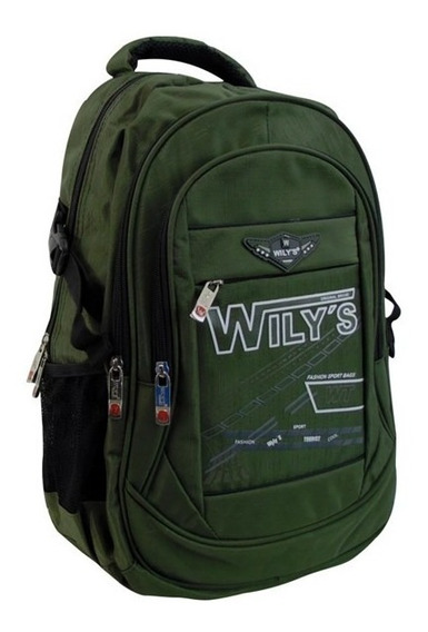 Mochila Escolar De Moda Verde Militar Wt0065-3 Jennyfer