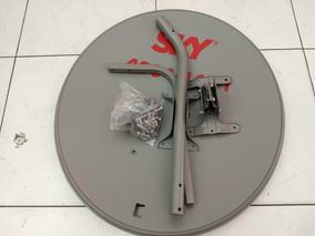 2 Antenas Ku 60cm + 2 Lnb Simples+ 1duplo E 10 Conector Rg6