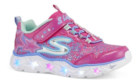 Skechers Para Niñas Con Increibles Luces Led Tallas 17 - 22