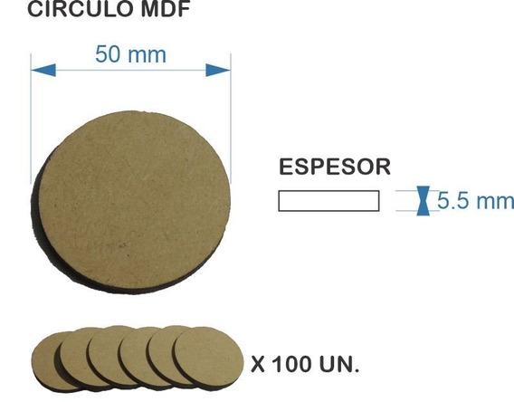 Figura Círculo Disco Fibrofacil Mdf 5 Cm - 5.5 Mm - 100 Un