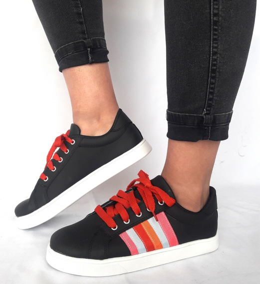 Mal018 Zapatillas Estilo Negras Multi Color Del 41 Al 44