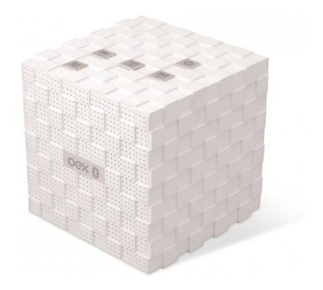 Caixa De Som C/ Bluetooth Speaker Music Box Branco Sk401 Oex
