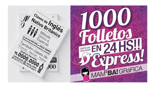 1000 Folletos Express En 24 Hs.a 1 Color * Villa Urquiza !!