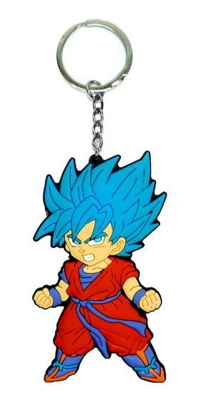 Chaveiro Goku Dragon Ball Z Cabelo Azul