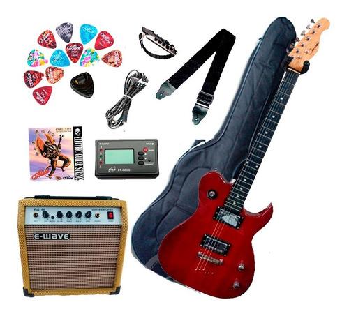 Combo Guitarra Eléctrica Guson Amplificador 10w Accesorios