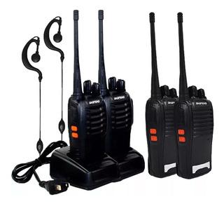 Kit 4 Radios Comunicador Walk Talk Baofeng Bf-777s Promoção