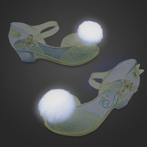 Sapato Princesa Sininho Com Luz Original Da Loja Disney