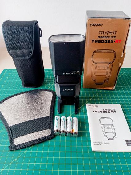 Flash Yongnuo Canon 600ex-rt + Case+rebatedor+4 Pilhas Sony!