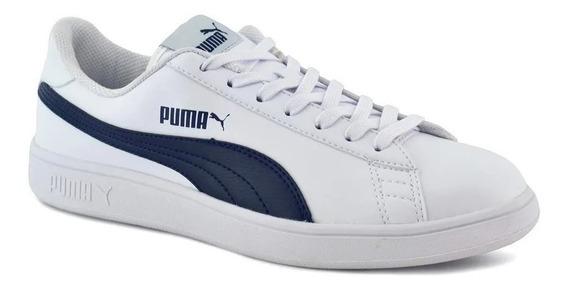 Puma Zapatilla Lifestyle Hombre Smash V2 Blanco-azul Fkr